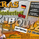 PUBQUIZ special 19 oktober + dresscode Oktoberfest UITVERKOCHT